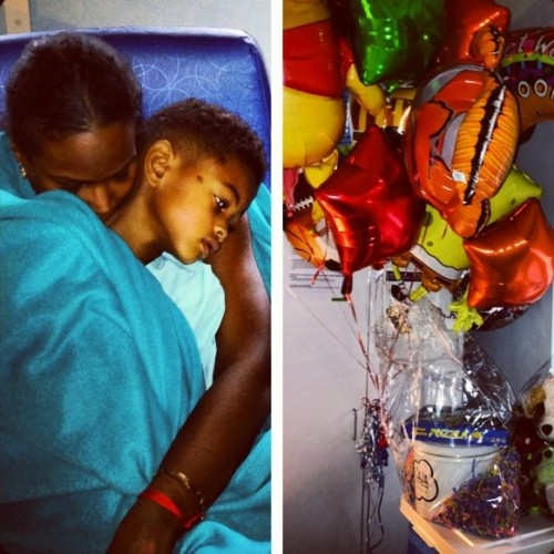 Tameka Raymond son hospital