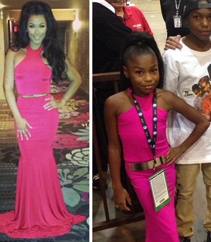 Floyd Mayweather daughter fiancée dress drama