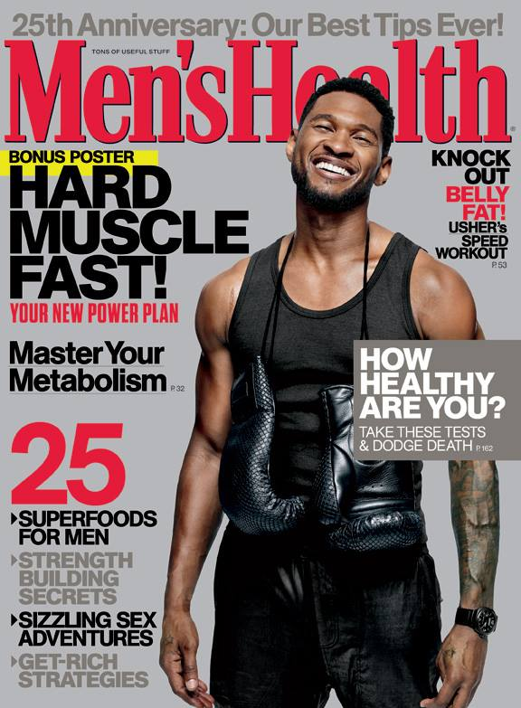 Usher Men's Health Cover 2013