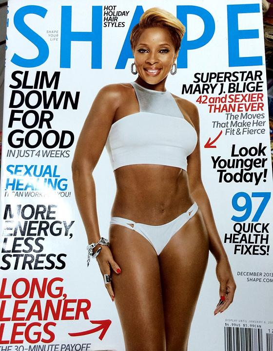 Mary J Blige Shape Magazine December 2013