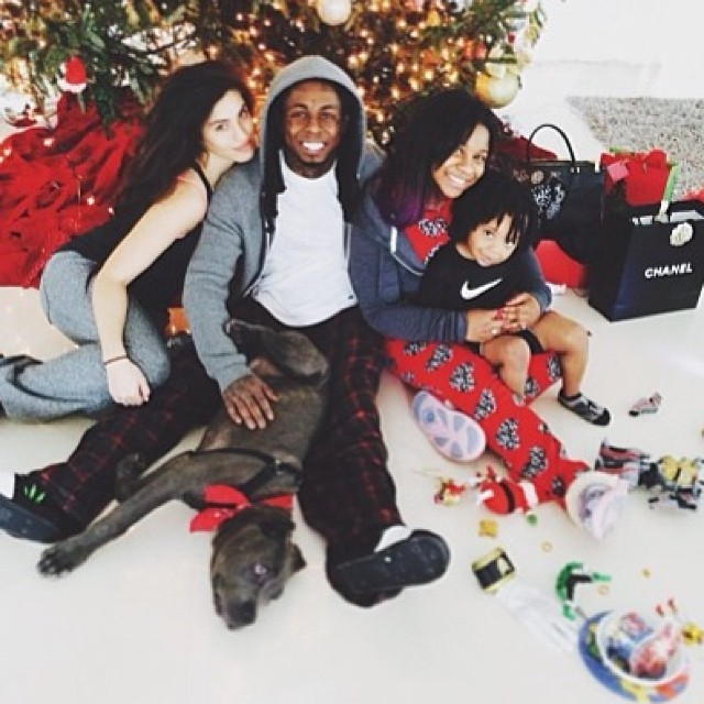 Lil Wayne Kids and Girlfriend Christmas