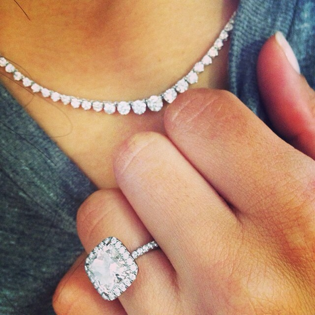Naya Rivera engagement ring necklace