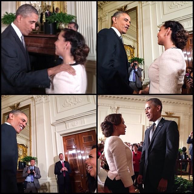 Adrienne Bosh Miami Heat White House 2014 5