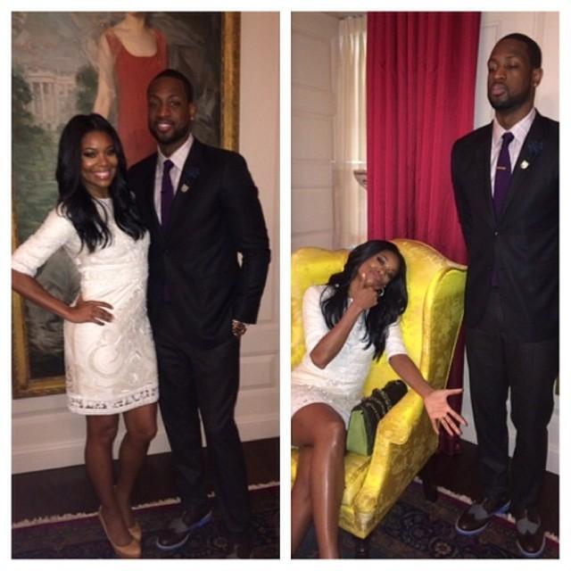 Dwyane Wade Gabrielle Union  Miami Heat White House 2014 7