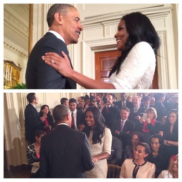 Gabrielle Union Obama Miami Heat White House 2014 5