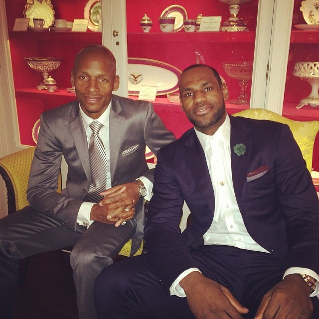 LeBron James Ray Allen Miami Heat White House 2014 4