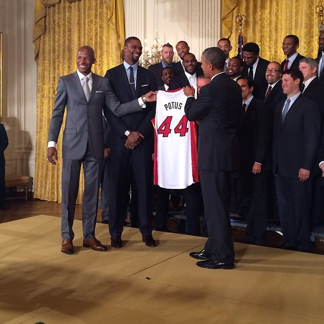 Miami Heat President Obama White House 2014
