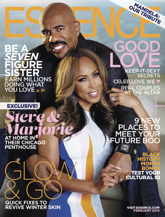 Steve Marjorie Harvey Essence February 2014