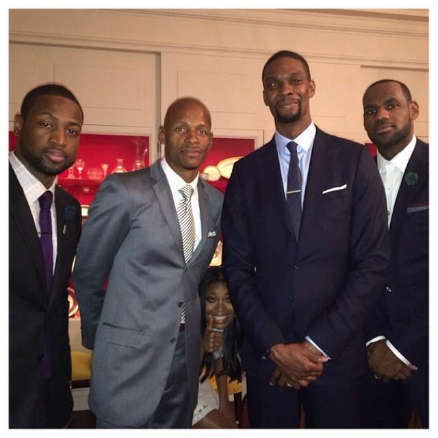 Wade James Bosh Allen Miami Heat White House 2014 Gabriele Photo Bomb