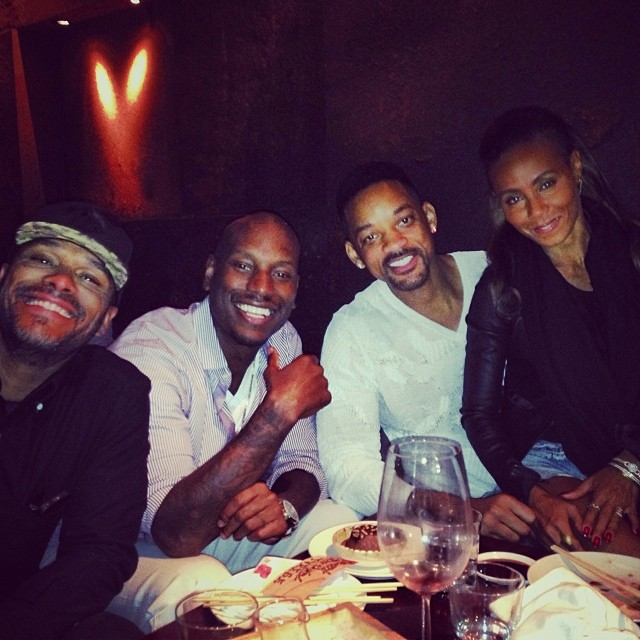 Will Smith Jada Pinkett Tyrese Maxwell Dubai