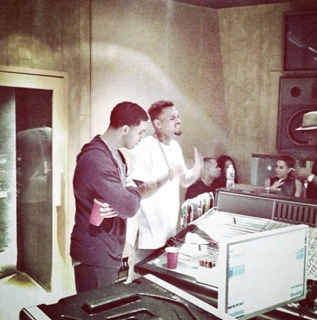 Chris brown drake studio