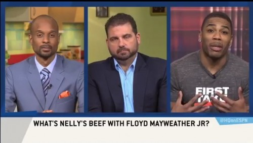 Nelly clowns Floyd Mayweather