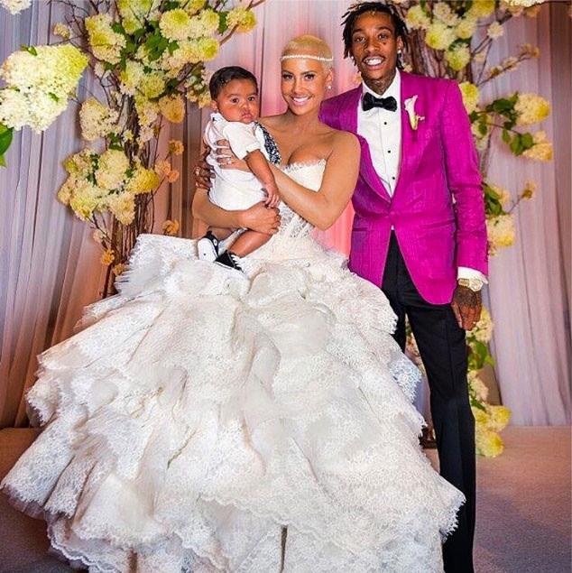 Amber rose wiz Khalifa wedding photo