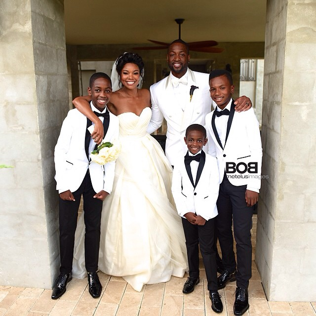 Gabrielle Union Dwyane Wade Wedding ohoto