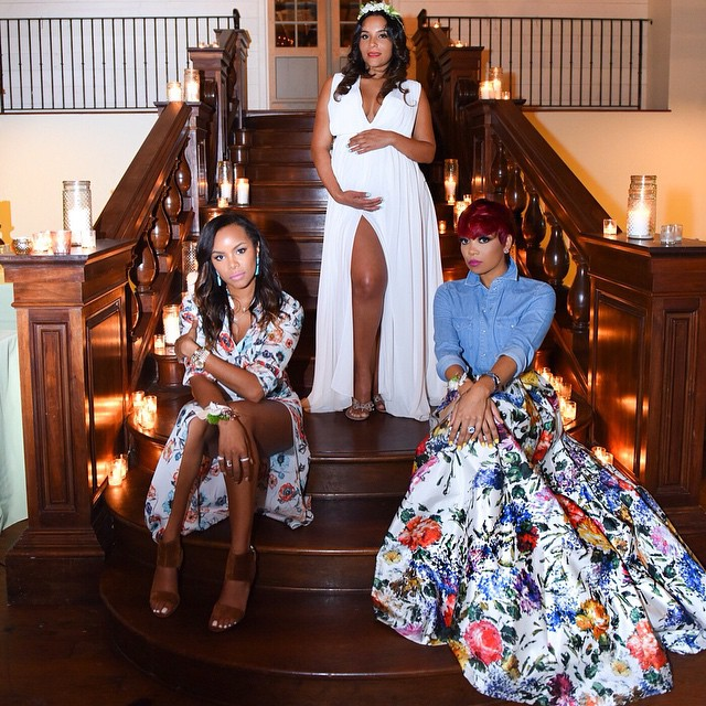 Eudoxiee Ludacris Baby Shower monica brown letoya luckett 2