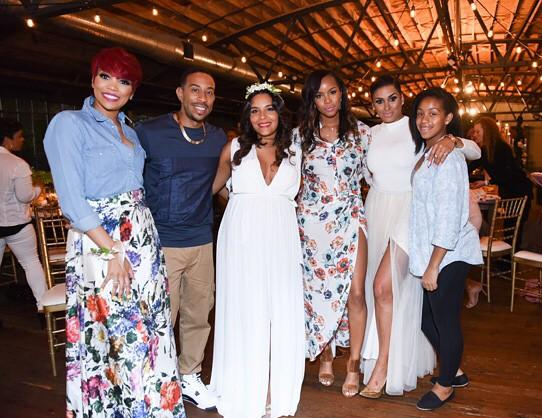 Eudoxiee Ludacris Baby Shower monica brown letoya luckett laura govan