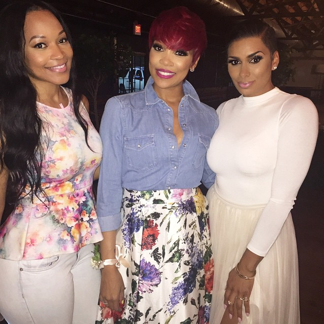Eudoxiee Ludacris Baby Shower monica brown monyetta shaw laura govan