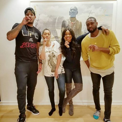 gabrielle-union-dwyane-wade-lala-carmelo-anthony-thanksgiving-2016