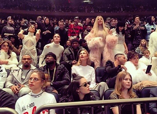 Lamar Odom At Kanye's Fashion show