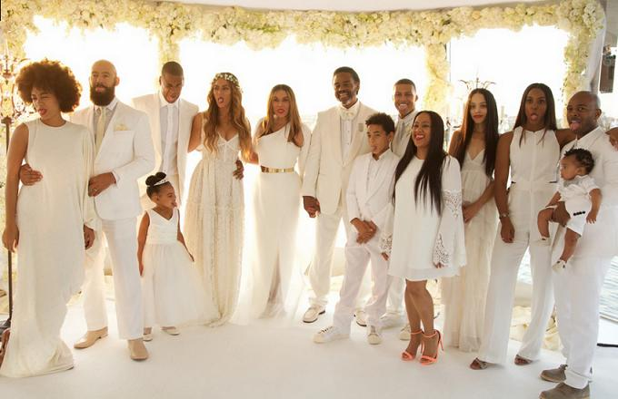 Tina Knowles Richard Lawson Wedding Family portrait