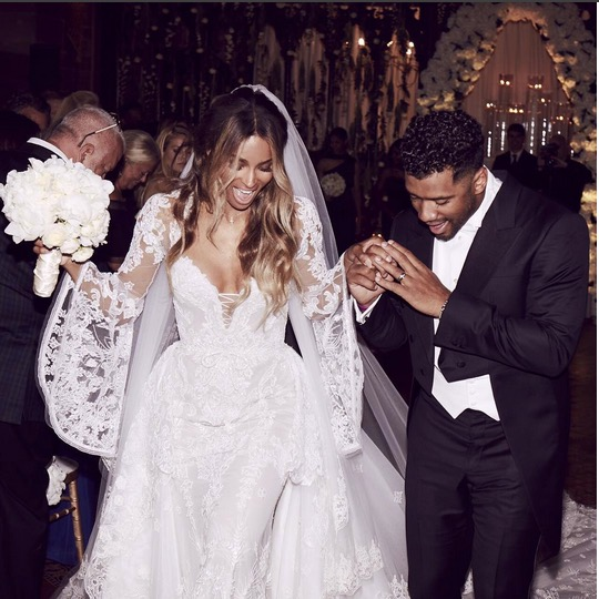 Ciara Russel Wilson wedding photo