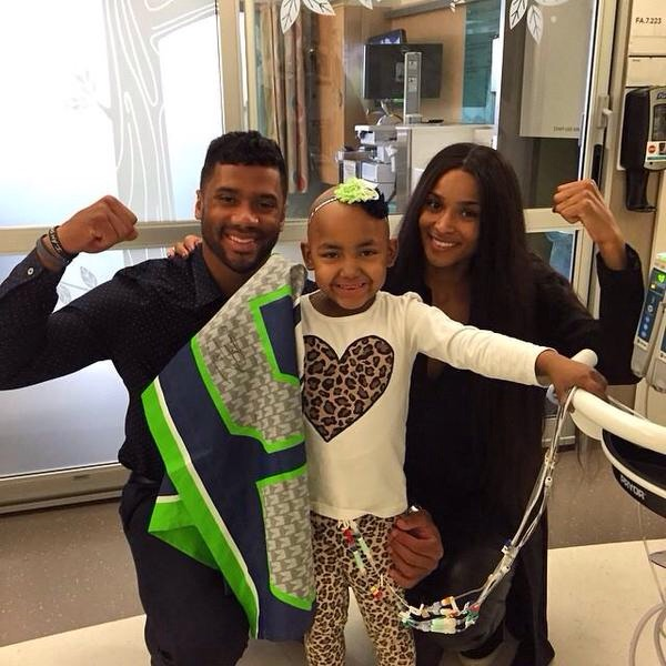 Ciara Russell Wilson Seattle Children's hospital