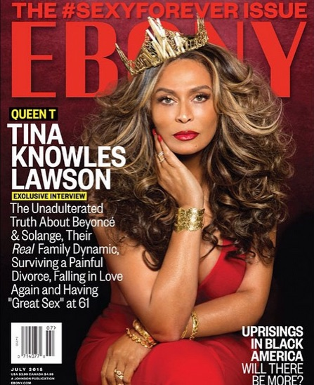 Tina knowles Lawson Ebony cover