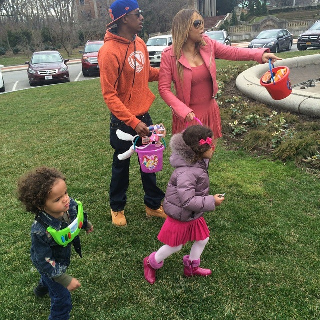 Mariah Carey Nick cannon kids easter